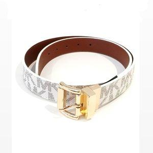 Authentic Michael Kors Reversible White Logo Belt